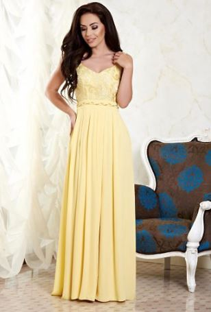 Maxi-dress-galbena