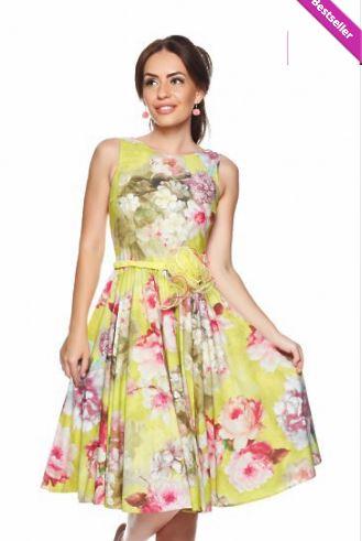 Rochita-galbena-imprimeu-floral