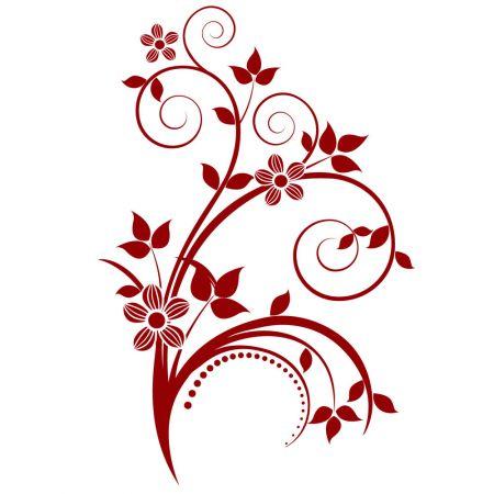 Sticker-decorativ-floare-rosie